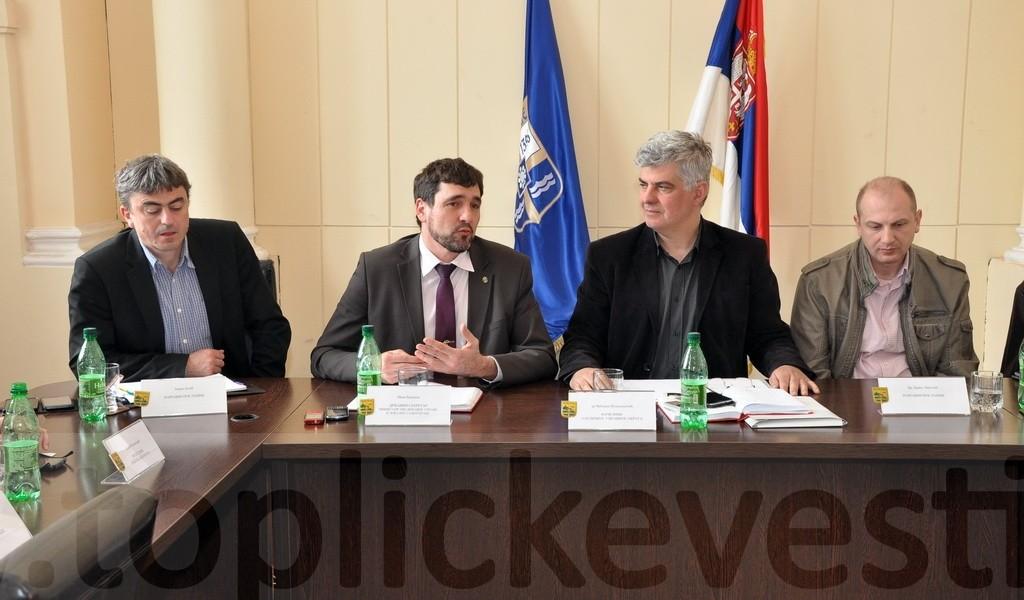 Иван Бошњак на седници Топличког управног округа